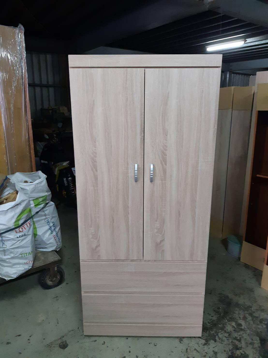 2.7尺雙門兩抽屜衣櫃-高雄衣櫃