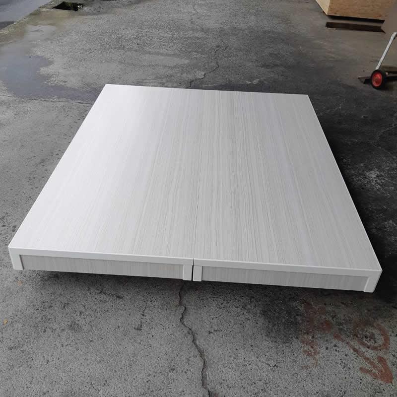 木屐床-雙人5尺-採用三分夾板(圖為水洗白色)-高雄木屐床