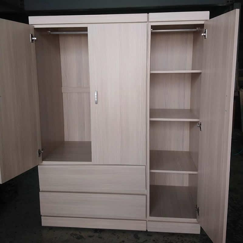4尺三門兩抽屜衣櫃-高雄衣櫃