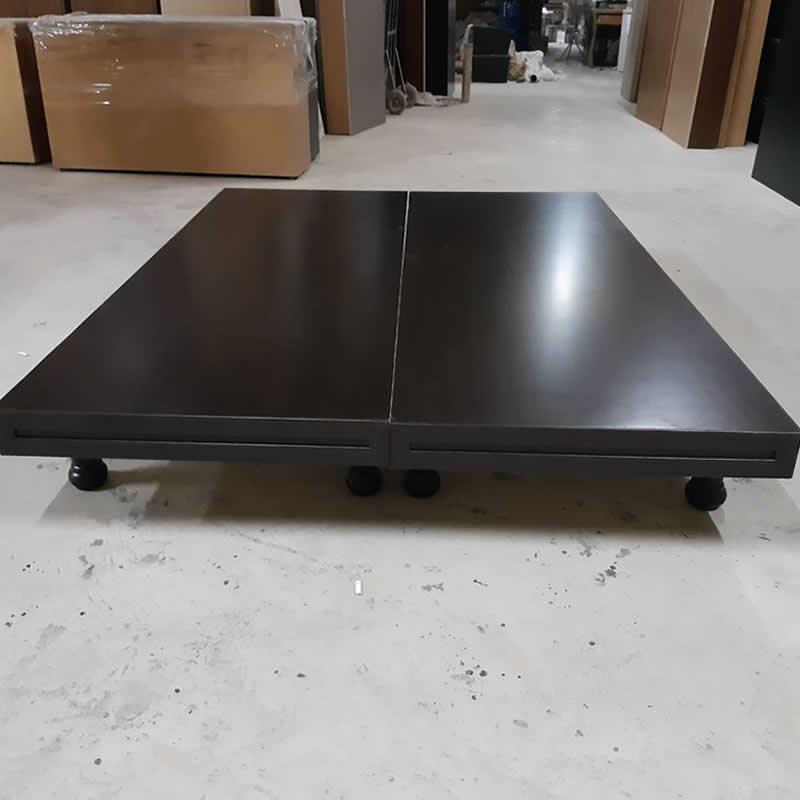 新高腳床-單人加大3.5尺-採用厚度最高六分木心板(圖為胡桃色)-高雄新高腳床